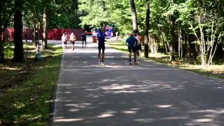 Лыжероллерная тренировка Никиты Крюкова в Одинцово