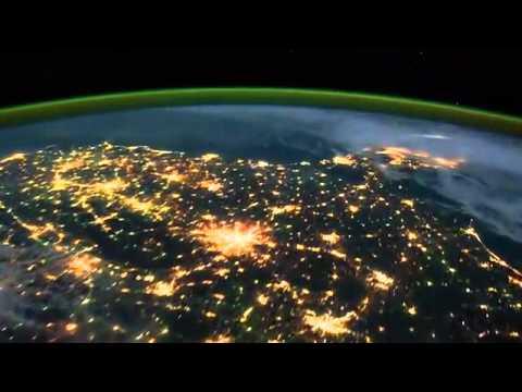 Северное сияние: видео с МКС