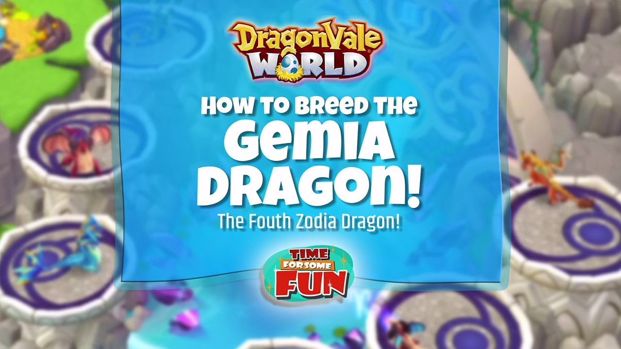 Dragonvale World | How to Breed the Gemia Dragon by Time For Some Fun