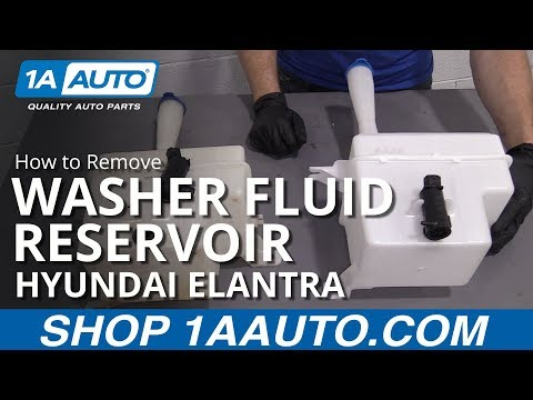 How to Replace Washer Fluid Reservoir 07-10 Hyundai Elantra