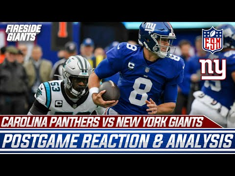 INSTANT REACTION: New York Giants BEAT The Carolina Panthers   Awards, Standout Players