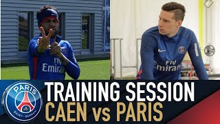 Training session - entrainements - caen vs paris saint-germain