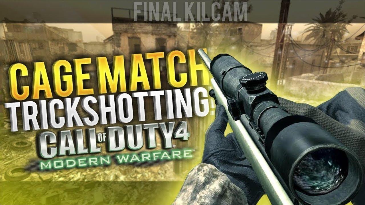 Download I HIT A BOUNCE ON COD4! - Cage Match Trickshotting! (7 SHOTS)