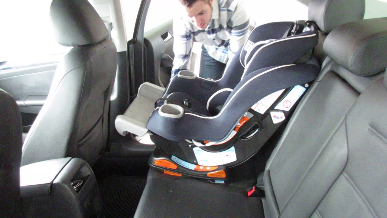 How To Install Graco Extend2Fit Convertible Car Seat Front Facing