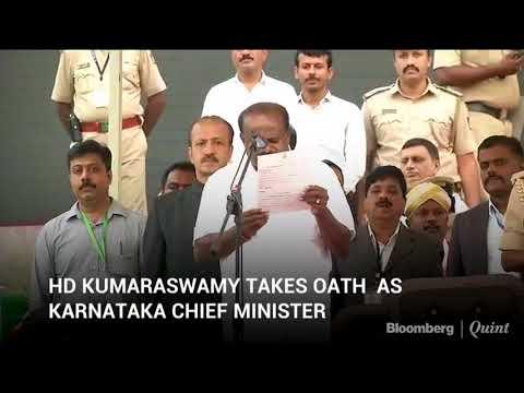 HD Kumaraswamy Takes Oath As Karnataka Chief Minister