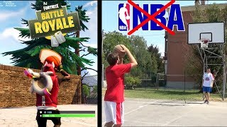 FORTNITE VS VITA REALE! - BASKETBALL EDITION!