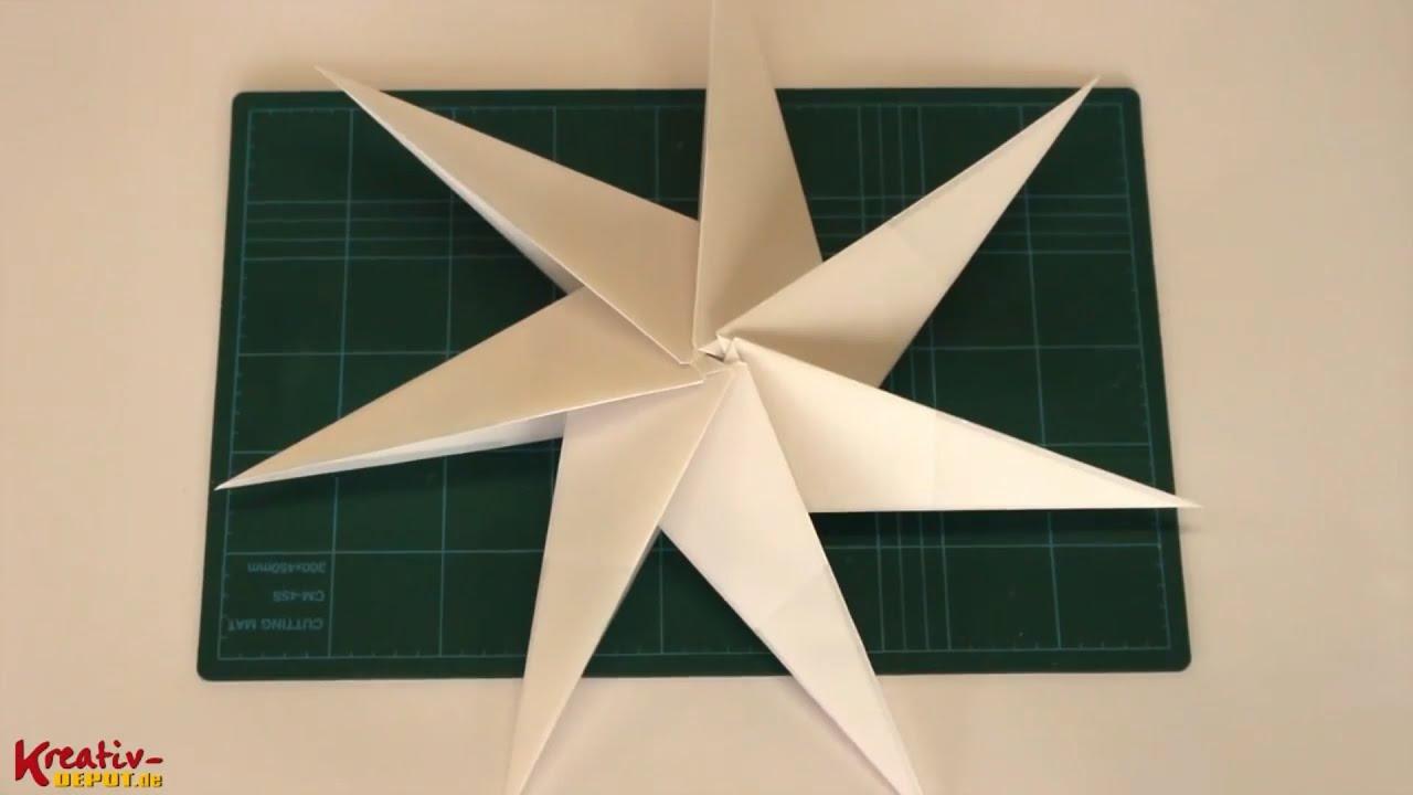 faltanleitung weihnachtlicher 3d stern aus bascetta stern. Black Bedroom Furniture Sets. Home Design Ideas