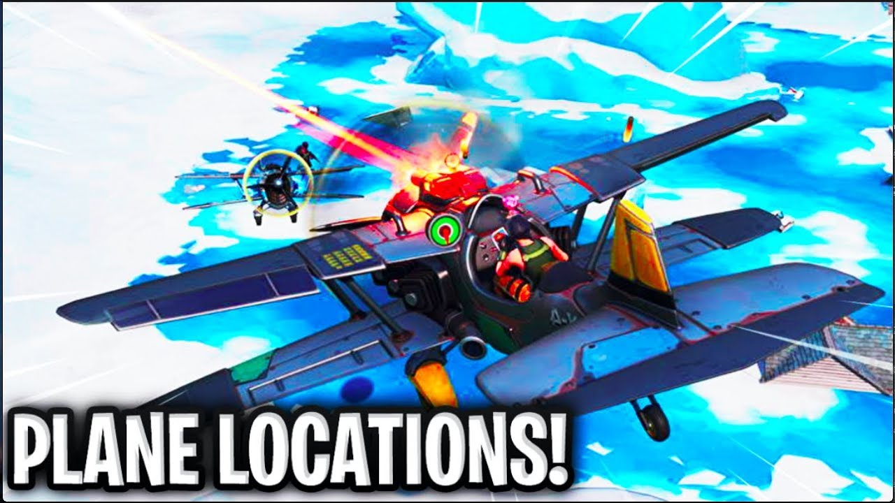All Fortnite Plane Spawn Locations Gameplay Youtube