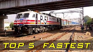 TOP 5 FASTEST TRAINS in Indian Railways | Gatimaan-Shatabdi-Rajdhani-Duronto