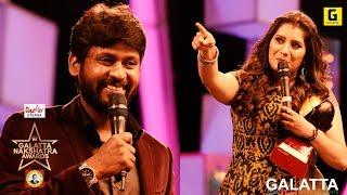 Enakkellaam girls fans irukkunu sonna naaney meme poduven - VJ Rio | Galatta Nakshatra Awards