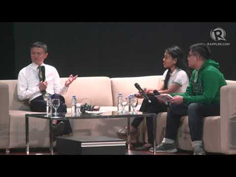 WATCH: Jack Ma talks to De La Salle University students, Joey Concepcion in Manila