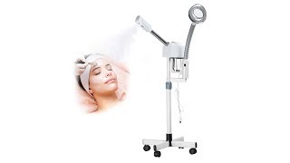 SUNCOO 2 in 1 Aromatherapy Professional Ozone Facial Steamer with 5X Magnifying Lamp