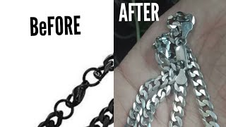 HOW TO CLEAN A SILVER CHAIN AT HOME 100% WORKING (Hindi and Urdu)