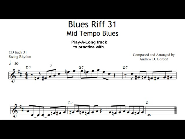 Blues Sax Riff of the Day for Tenor Sax