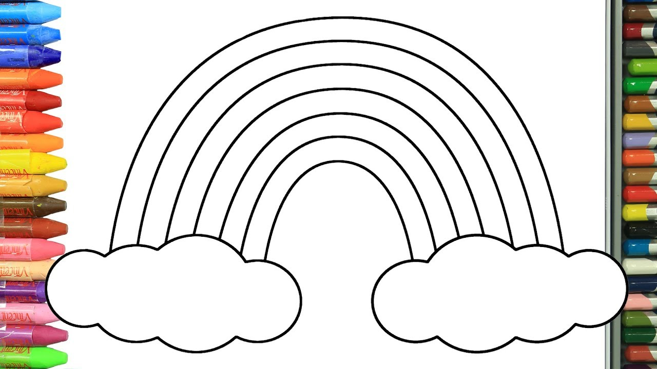 Wie Zeichnet Man Regenbogen Sonne Und Wolke Zeichnen Und Ausmalen Für Kinder