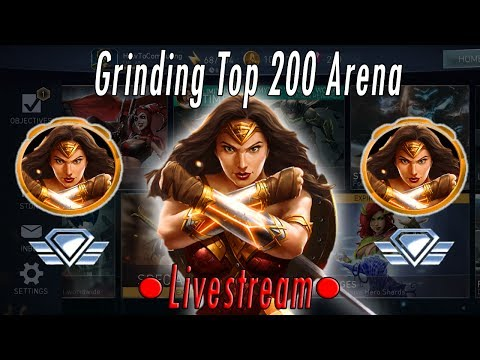 Grinding Mythic Wonder Woman - Final Arena Season! Ranking Up To Top 200 In Arena Injustice 2 Mobile