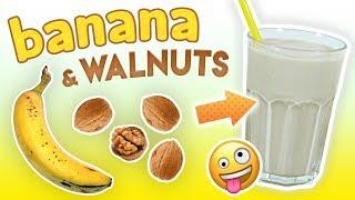 BANANA WALNUT SMOOTHIE   Energy Boosting Smoothie   Healthy Smoothie Recipes #43 - GoheRove2