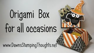 Origami Box Featuring Envelope Paper  from Stampin'Up!