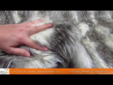 American Palm Civet Faux Fur Fabric