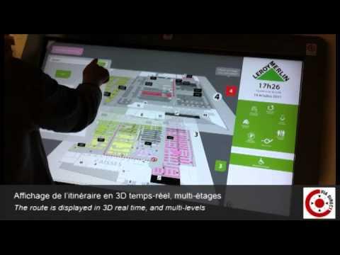 Leroy Merlin Ivry 6 Bornes Dorientation Tactiles Avec Plan Interactif Viadirect
