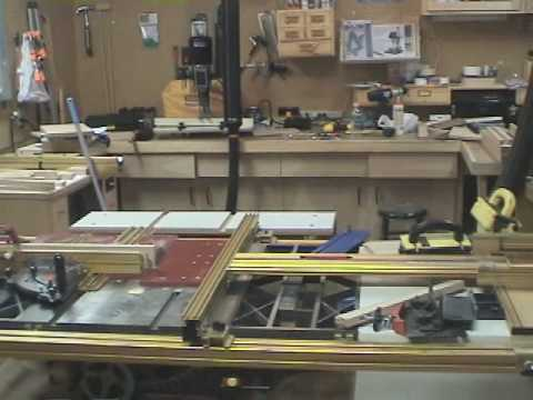 Basement woodshop tour - YouTube