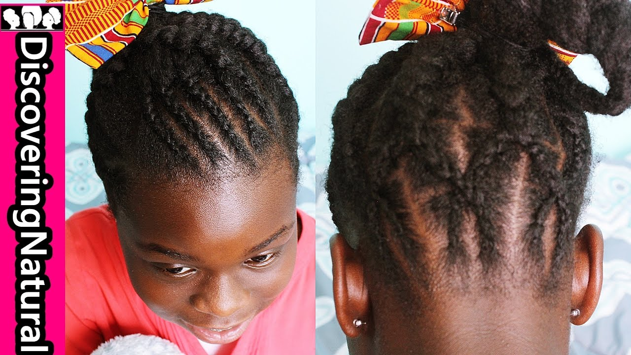 Naturalhair Kids Hairstyle Big And Small Cornrow Criss Cross