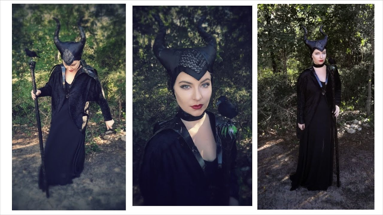Maleficent cheap diy costume tutorial halloween youtube solutioingenieria Image collections