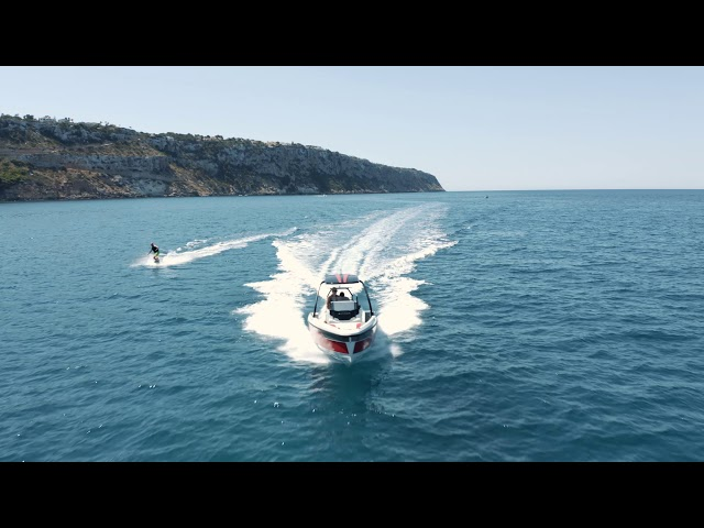Fun boat riding on Saxdor 200 Sport with Agapi Club Mallorca