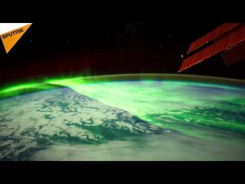 Stunning Views of Northern and Southern Lights from ISS