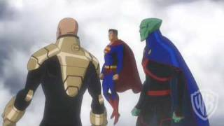 Justice League-Crisis on Two Earths-Sky Fight