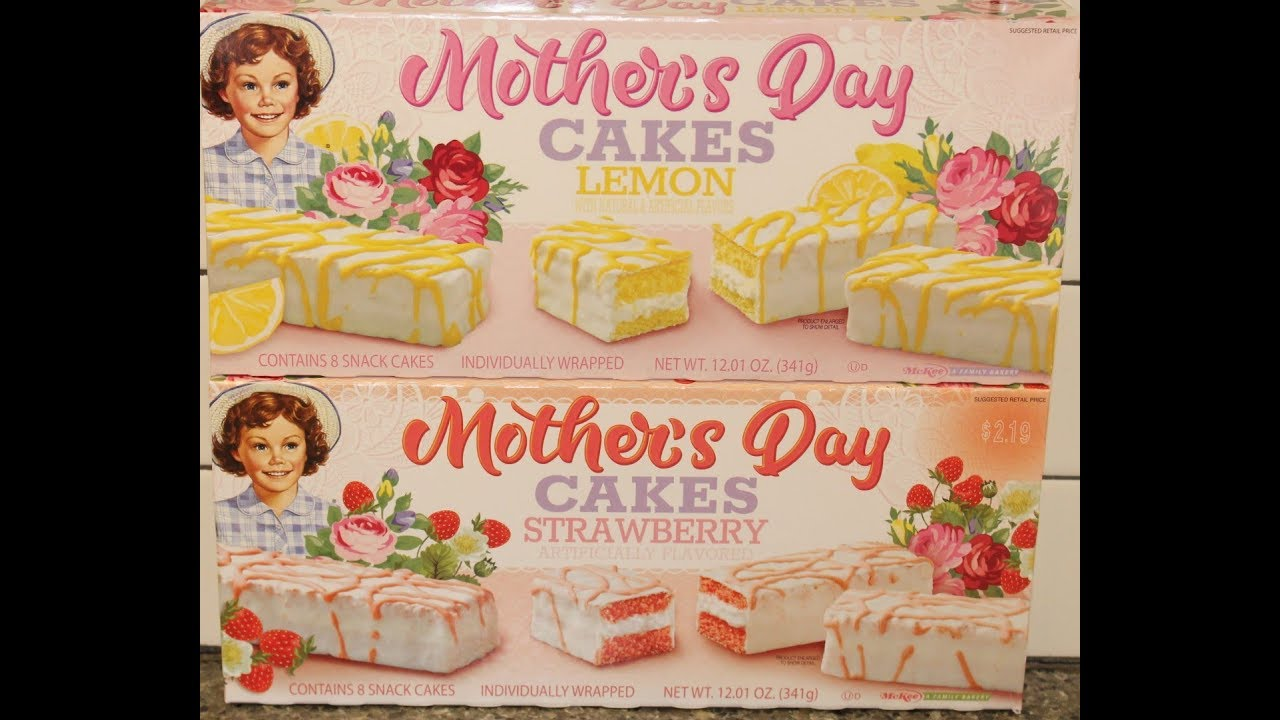 Little Debbie Mothers Day Cakes Lemon Strawberry Review