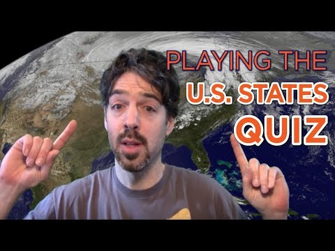 Playing The US States Quiz