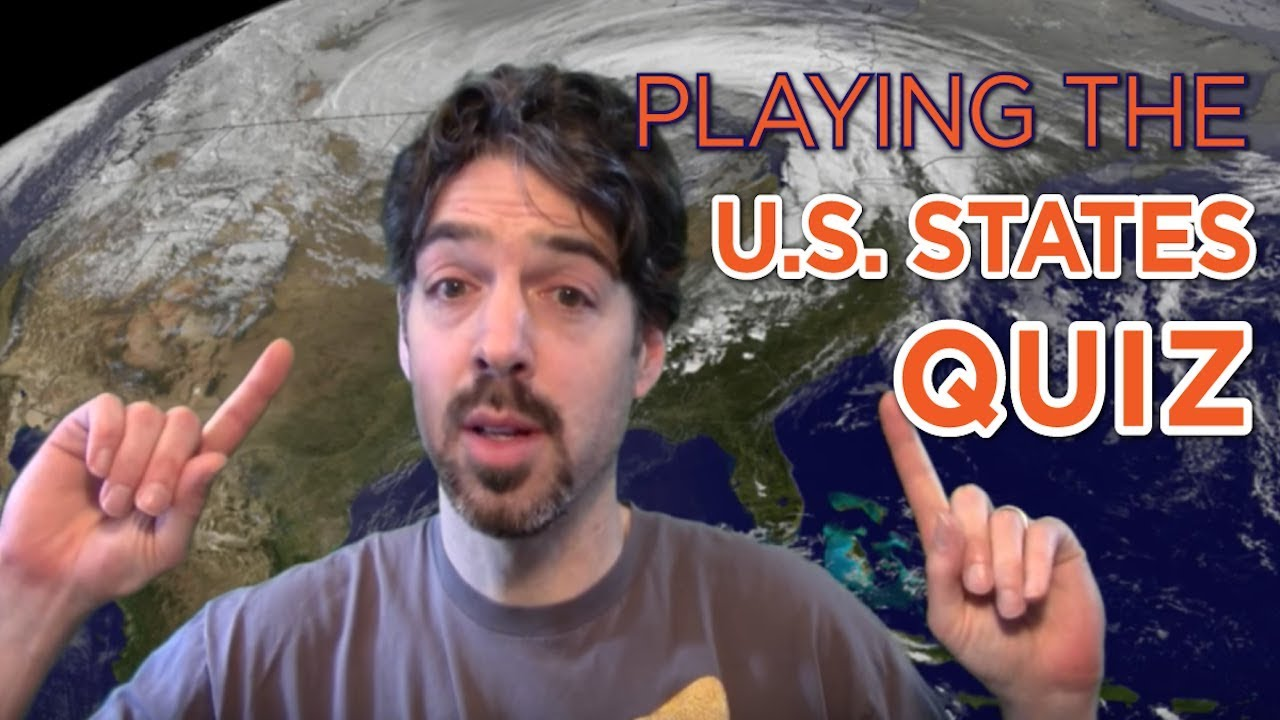 US States Map Quiz on