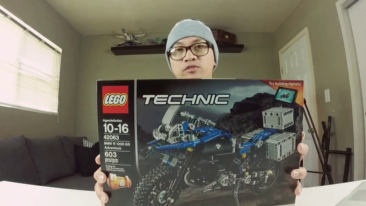 lego technic 42063 bmw hover bike concept - timelapse & review