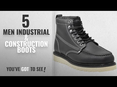 "Fox Men Industrial & Construction Boots [Winter 2018 ]: Golden Fox Work Boot 6"" Moc Toe Wedge Boot"