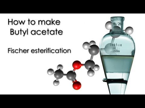 How To Make Butyl Acetate. Fischer Esterification 🍎🍏