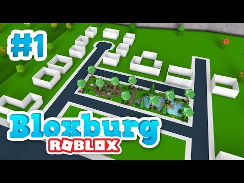BUILDING A MINI TOWN - Roblox Welcome to Bloxburg #1