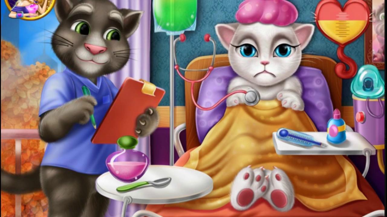 Игра Том и Анжела лечат зубы  играть онлайн бесплатно
