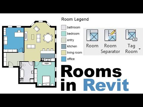 Rooms in Revit (with area schedule) Tutorial