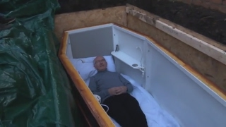 VIDEO: Dublin man to spend three days buried alive in coffin
