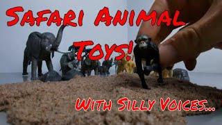 Animal toys for toddlers Kinetic Sand! Learn Safari Animal for kids Fun with Blocks