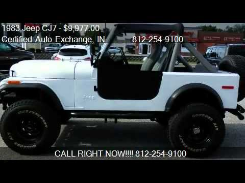 1983 jeep cj7 4x4 for sale in washington in 47501 youtube. Black Bedroom Furniture Sets. Home Design Ideas