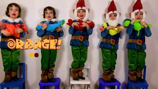 Makar pretend play with colorful dolls