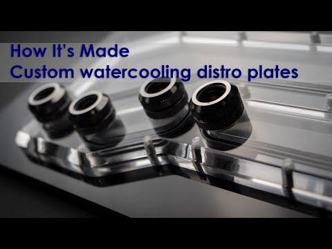 Making a acrylic watercooling distribution plate / Manifold