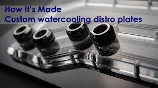 Yapmak için akrilik su soğutma dağıtım plaka / Manifoldu