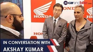 Auto Expo 2018 - In Conversation with Akshay Kumar about 2 Wheeler Safety