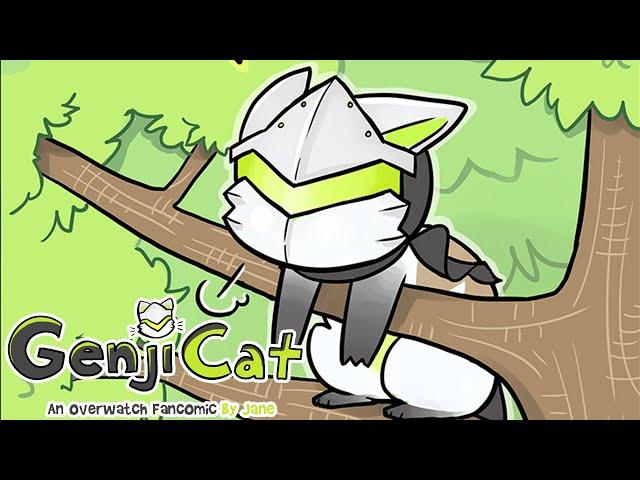 Genji Cat Stuck On A Tree   Overwatch Comic Dub