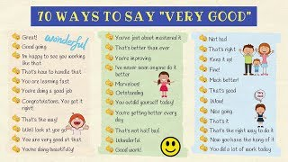 """70 Different Ways To Say """"VERY GOOD"""" in English 