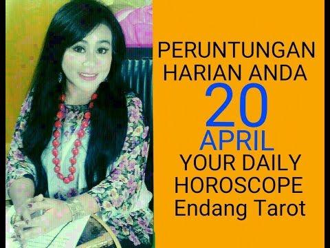 PERUNTUNGAN ZODIAC ANDA HARI INI   20 APRIL 2018 - DAILY HOROSCOPE   Endang Tarot (Indonesia)