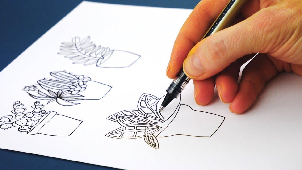 Pflanzen Zeichnen Ganz Leicht Teil 1 Youtube